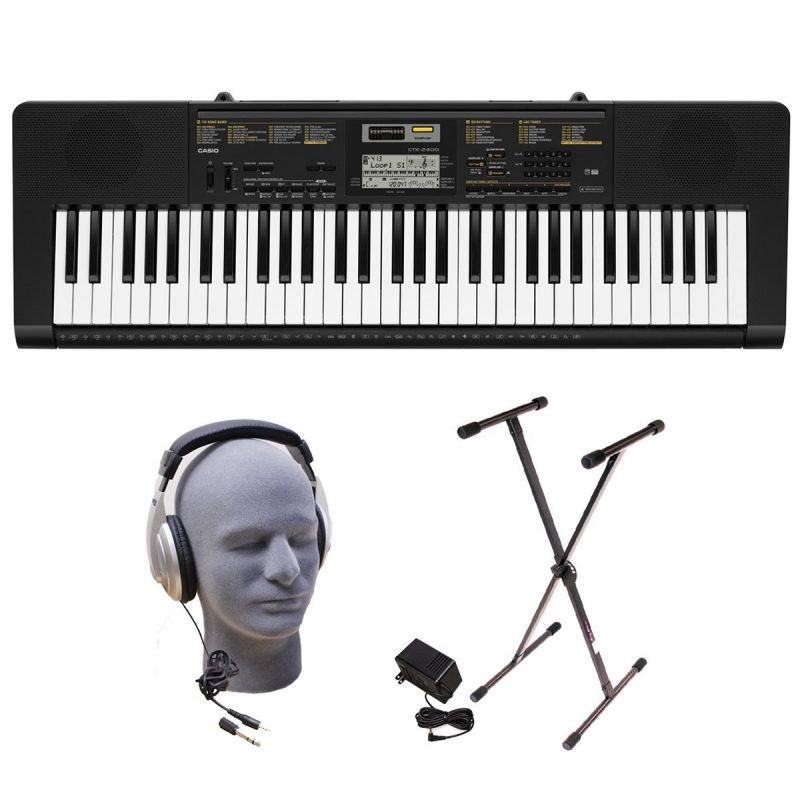 Casio CTK-2400 Premium Portable Keyboard Package