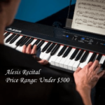 The Alesis Recital has futuristic design with LED buttons