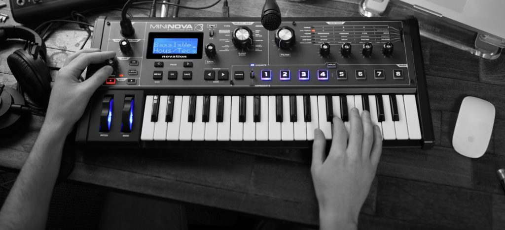 Novation MiniNova is a small and compact synthesizer which delivers superb sounds.