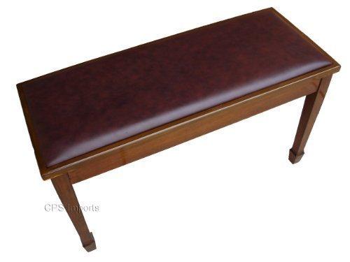 Walnut grand piano bench with music storage